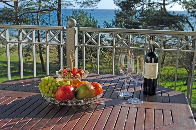 Villa Atlantic - Appartement Baltic Melody - Balon mit Meerblick